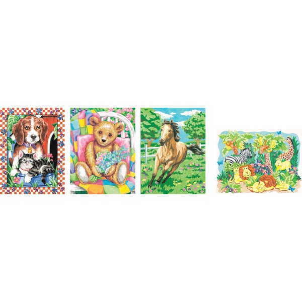 Pencil Works Color By Number Kit 4/Pkg-Variety Pack II