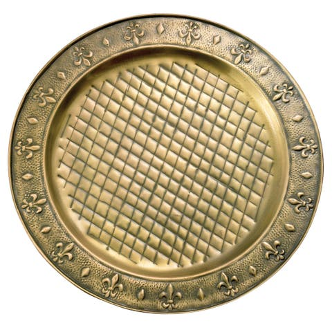 Antique Brass 13-inch Charger Plates (Set of 6)