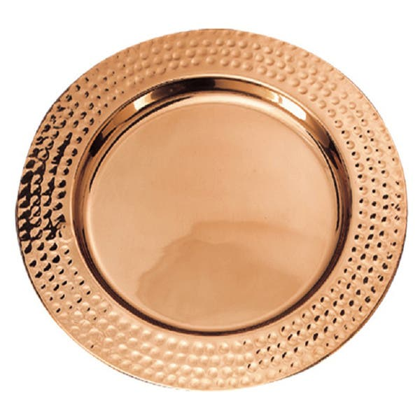 Old Dutch Copper Plated Hammered Rim 13 Inch Charger Plates Set Of 6 On Sale Overstock 7541807
