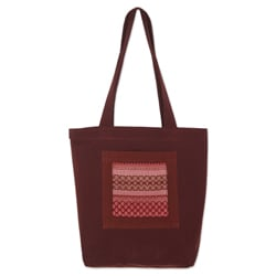 Cotton 'Lanna Bouquet' Large Tote Bag (Thailand)