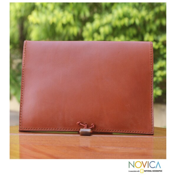 Leather 'Tan Indulgence' iPad Case (Ghana)