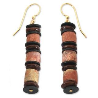 Handcrafted Bauxite 'Akoma' Earrings (Ghana)