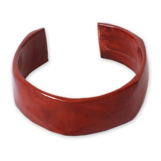 Leather 'African Brown' Cuff Bracelet (Ghana)