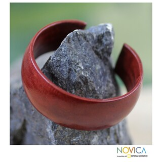 Leather 'Annula in Brown' Cuff Bracelet (Ghana)