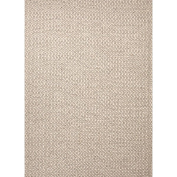 Flat Weave Solid Ivory/ White Wool Rug (8' x 10')