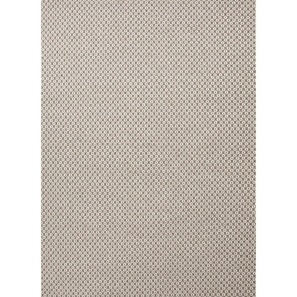 Flat-Weave Solid Gray/Black Wool Contemporary Rug (5' x 8')