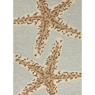 Coastal Silver Lake Blue Indoor/ Outdoor Rug (2' x 3')