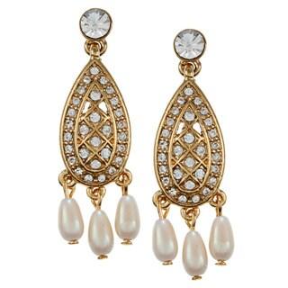 Carolee Small CZ Art Deco Chandelier Earrings