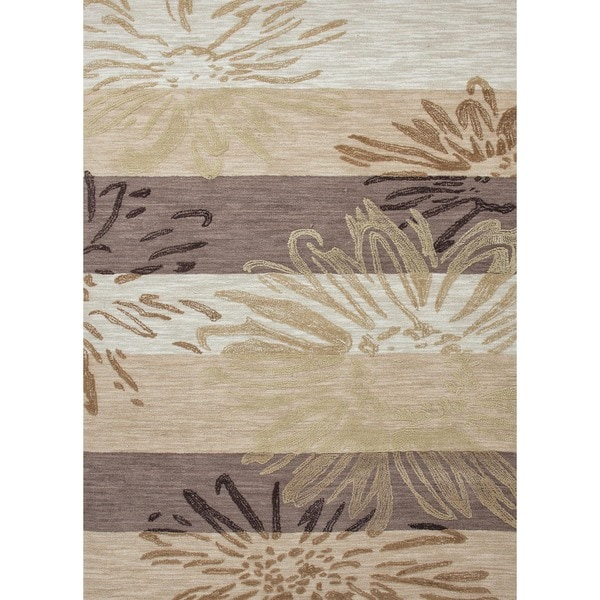 Transitional Floral Brown Rug (2' x 3')
