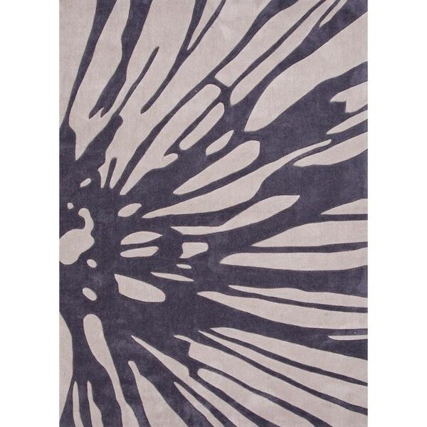Modern Floral Rug (7'6 x 9'6)