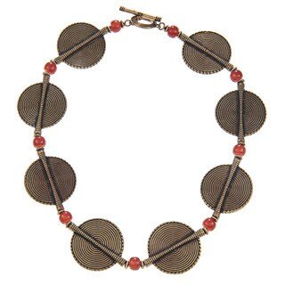 Ralph Lauren Large Multi Disk 18-inch Necklace