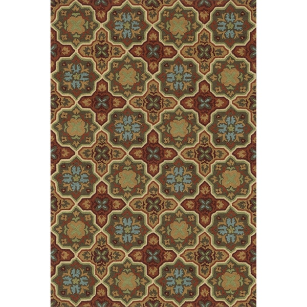 Hand-hooked Charlotte Spice Rug (3'6 x 5'6)