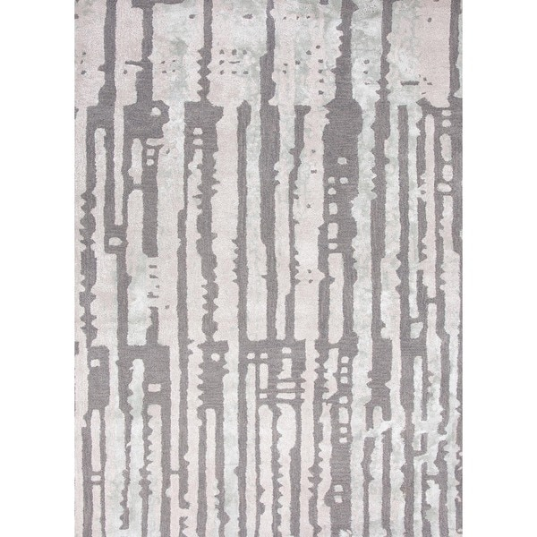 Modern Abstract Wool/Silk Tufted Accent Rug (2' x 3')