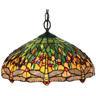 Green ceiling lights for less overstock tiffany style dragonfly hanging lamp aloadofball Image collections