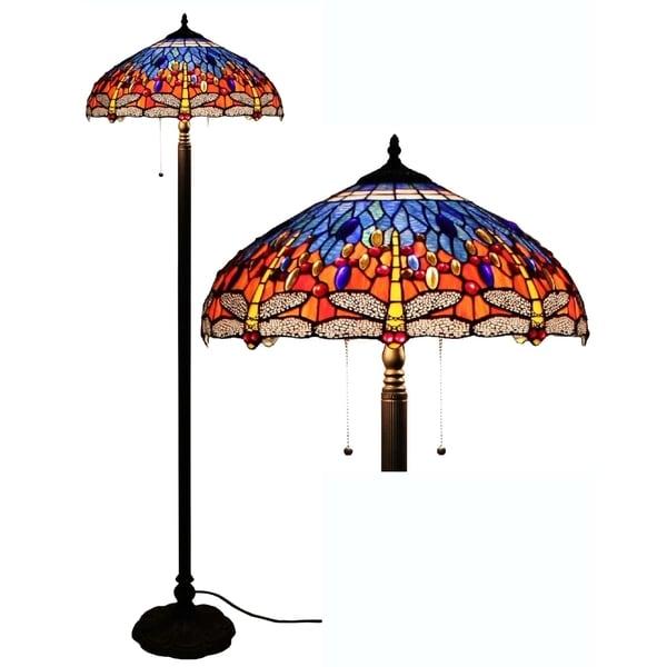 Tiffany-style Dragonfly Floor Lamp