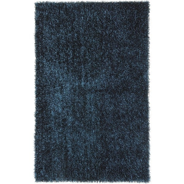 Solid Teal Blue Shag Rug (9' x 13')
