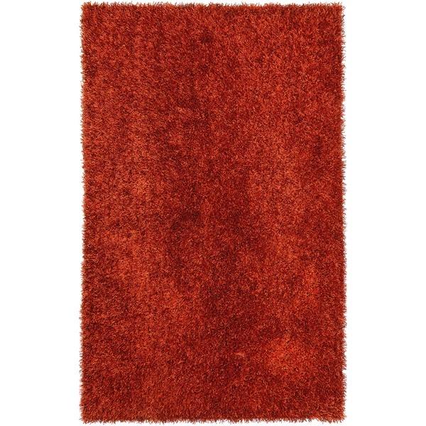 Red/ Orange Solid Shag Rug (9' x 13')
