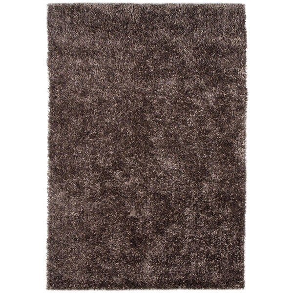 Warm Grey Solid Shag Rug (9' x 13')