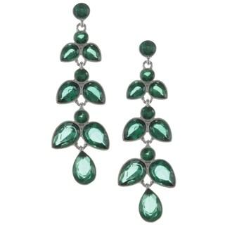 ABS by Allen Schwartz Crystal Linear Chandelier Earrings
