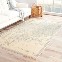 Adria Abstract Beige/ Green Area Rug - 2' x 3'