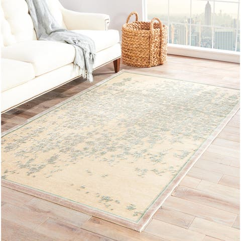 "Adria Abstract Beige/ Green Area Rug (9' X 12') - 8'10"" x 11'9"""