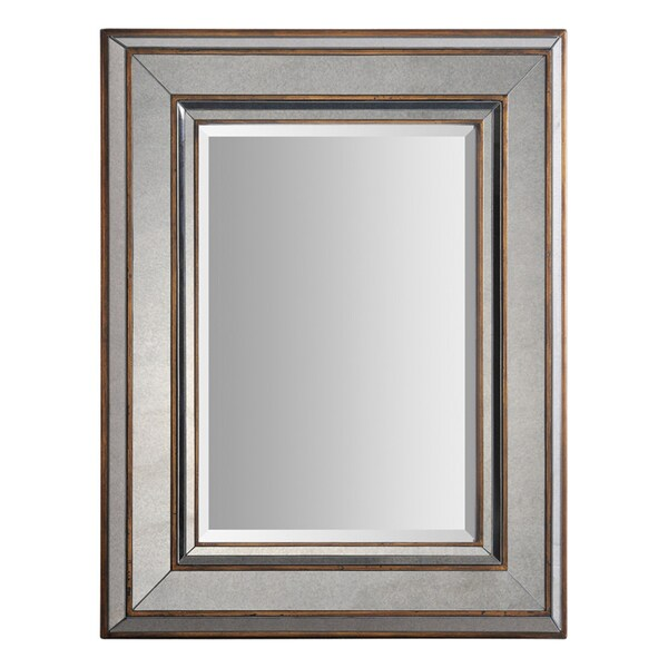 Keira 3-layer Bronze Metal-framed Mirror