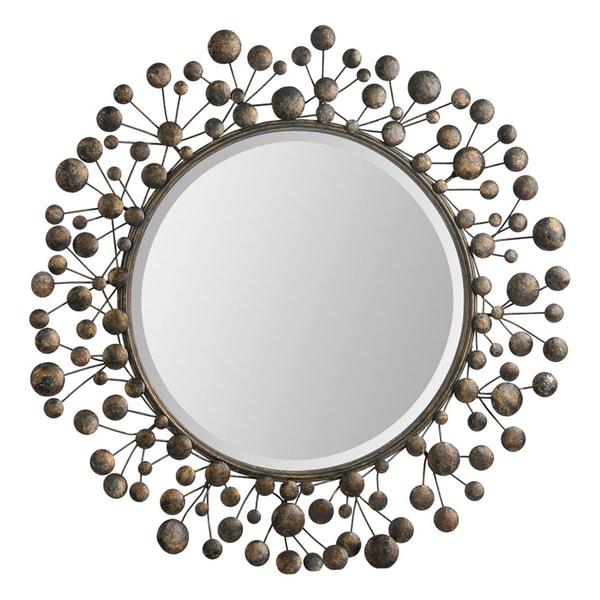 Harvard Bronze Metal Cranberry-framed Mirror