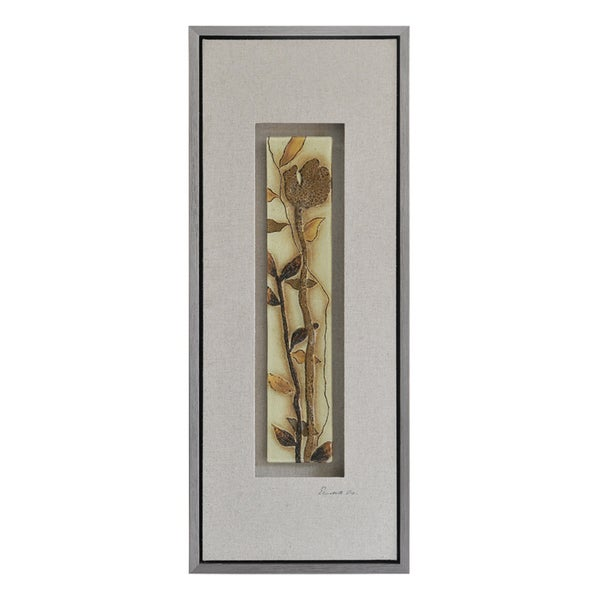 Ren Wil Lecavalier 'Shimmering Florals I' Hand-painted Canvas Art