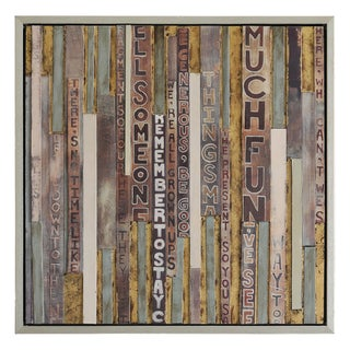 Charlene Lynch 'Carvings I' Hand-painted Canvas Art