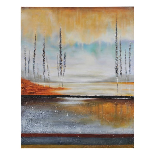 Ren Wil Stephane Fontaine 'Earth in Fall' Hand Painted Canvas
