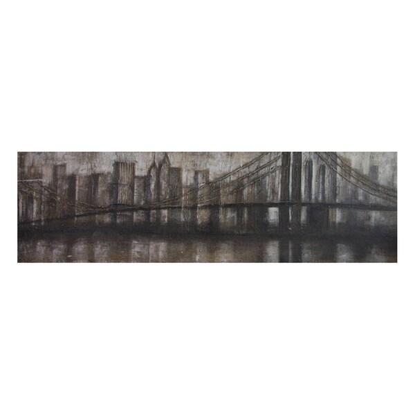 Lecavalier 'Smokey City' Hand Painted Canvas