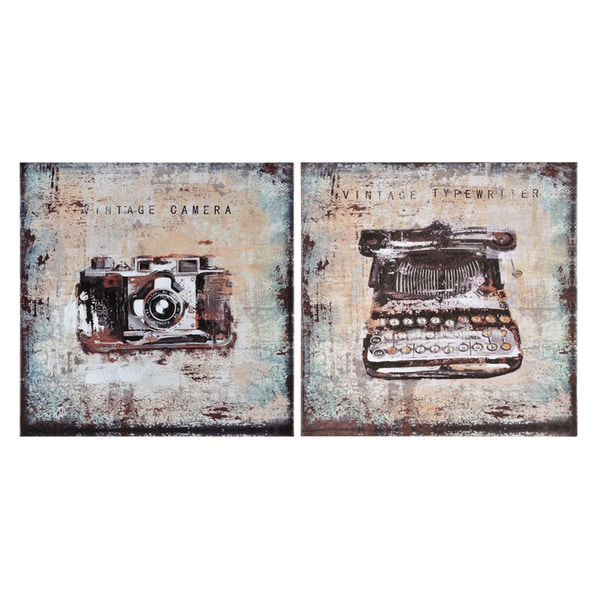 Ren Wil Giovanni Russo 'Vintage Memories' Hand Painted Canvas