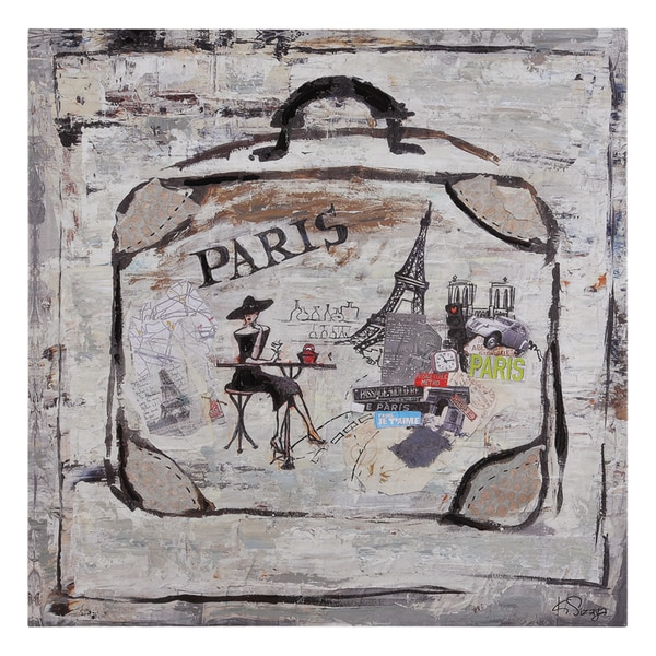 Ksenia Sizaya 'Paris Travels' Hand Painted Canvas