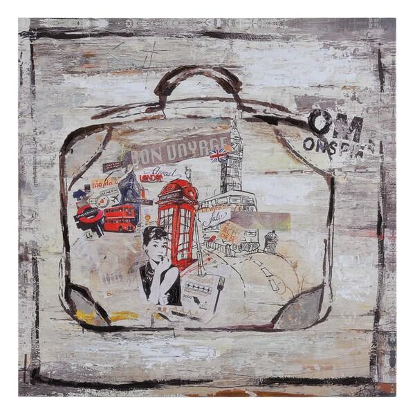 Ksenia Sizaya 'London Travels' Hand Painted Canvas