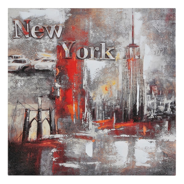 Ren Wil Paradis 'Memories of New York' Hand Painted Canvas