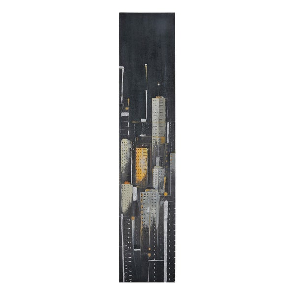 Ren Wil Elias Munoz 'Midnight City I' Hand Painted Canvas