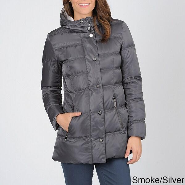 Vince Camuto Women's Zip Front Down Coat with Hood