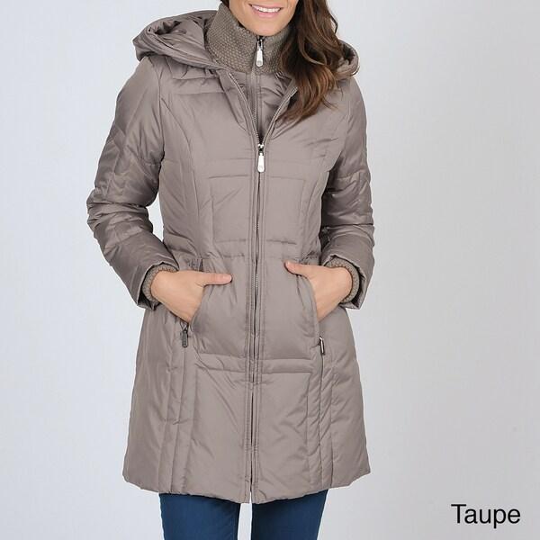 Vince Camuto Women's Double-zip Down Coat with Hood