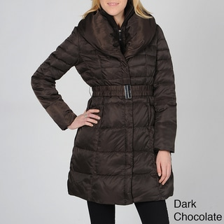 Ivanka Trump Women's Belted Down Coat with Shawl Collar