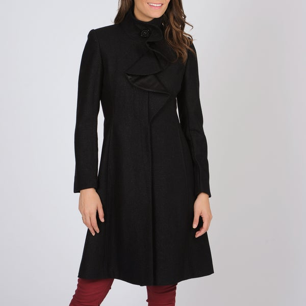 Shop Ivanka Trump Women S Ruffle Detail Coat Free