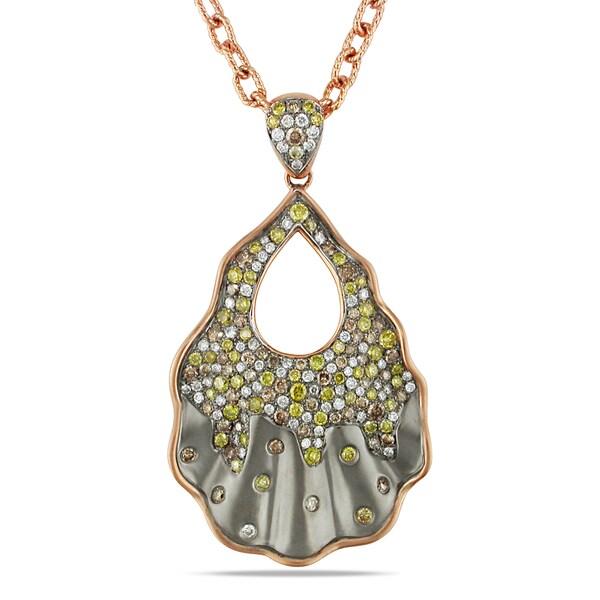 Miadora 14k Rose Gold 2 2/5ct TDW Diamond Necklace (G-H, SI1-SI2)