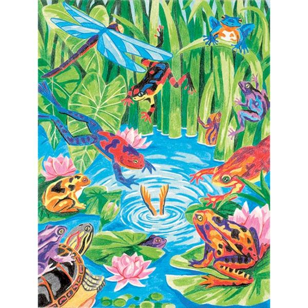 Pencil Works Color By Number Kit-Frog Pond