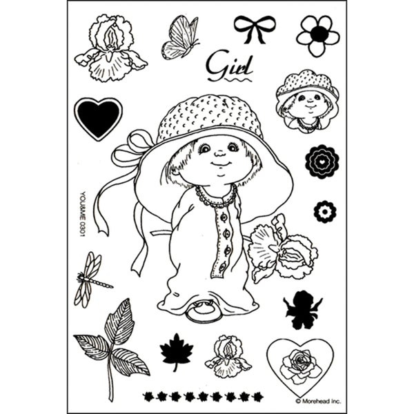 Morehead Clear Stamp Set-Girl