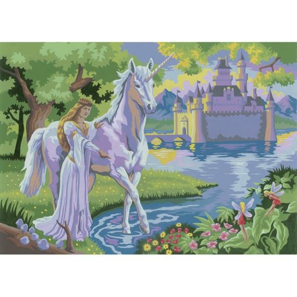 "Junior Large Paint By Number Kit 15-1/4"" X 11-1/4""-Fairy Castle"