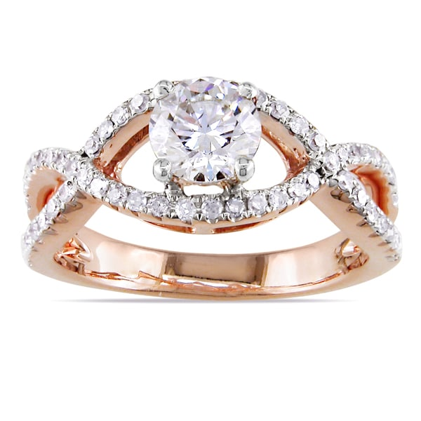 Miadora 14k Rose Gold 3/4ct TDW Diamond Engagement Ring (G-H, SI1-SI2)