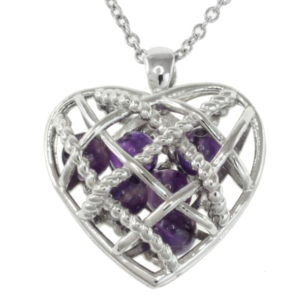 Michael Valitutti Sterling Silver Amethyst Necklace