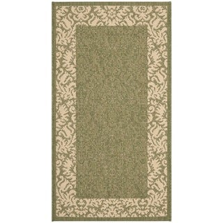 Safavieh Poolside Olive/ Natural Indoor Outdoor Rug (2' x 3'7)