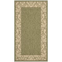 Safavieh Kaii Damask Olive Green/ Natural Indoor/ Outdoor Rug - 2' x 3'7
