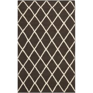 Safavieh Hand-woven Moroccan Reversible Dhurrie Brown Wool Rug