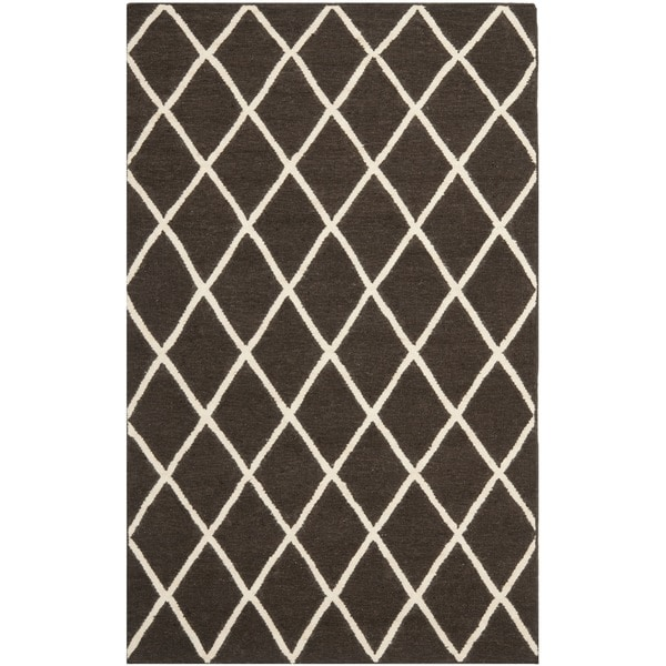 Safavieh Hand-woven Moroccan Reversible Dhurrie Brown Wool Rug
